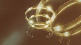 Gold wedding rings 3d illustration Royalty Free Stock Photography