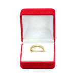Gold wedding rings in a gift box Royalty Free Stock Photo
