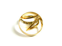 Gold wedding rings. Isolated on the white background Stock Photo