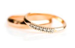 Gold wedding rings Royalty Free Stock Image
