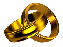 Gold wedding rings, jewelry Stock Photo