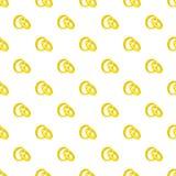 Gold wedding rings pattern, cartoon style Royalty Free Stock Image