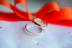 Gold wedding rings Royalty Free Stock Photo
