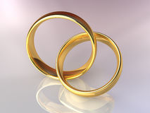 Gold Wedding Rings Together Royalty Free Stock Image