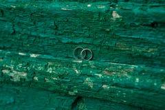 Gold wedding rings Stock Image
