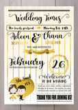 Gold wedding template collection for banners,Flyers,Placards wit stock illustration