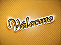 Gold welcome card illustration design Stock Photography