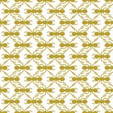 Gold on white ant geometric pattern seamless repeat background. Two colour simple ant geometric pattern seamless repeat background. Could be used for background Royalty Free Stock Photos