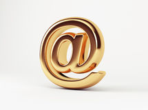Gold At. On white background Royalty Free Stock Image