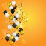 Gold and white balloons elements Stock Photography