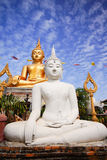 Gold and White Buddha Image Royalty Free Stock Images