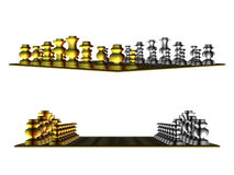 Gold and white chess Stock Photos