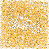 Gold and white Christmas background Royalty Free Stock Photos