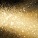 Gold White Christmas Lights Blurred Background Stock Images