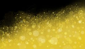 Gold white Christmas lights blurred background Stock Photo