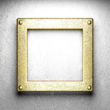 Gold on white concrete Royalty Free Stock Photo