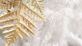 Gold and white elements background christmas. With copy space Royalty Free Stock Photo