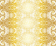 Gold and white ethnic tribal abstract seamless background pattern in vector. Royalty Free Stock Photos