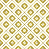 Gold on white geometric tile with diamond line seamless repeat pattern background. Two colour geometric tile with diamond line seamless repeat pattern background Stock Photo