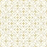 Gold on white geometric tile oval and circle scribbly lines seamless repeat pattern background. Two colour geometric tile oval and circle scribbly lines seamless Royalty Free Stock Photography