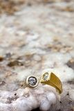 Ring on Salty Rock Stock Photos