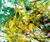 Gold white green blurred painting watercolor background, abstract painting watercolor background royalty free stock images