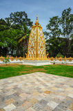 Gold with White Pagoda Royalty Free Stock Images