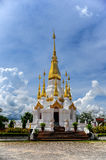 Gold with White Pagoda Stock Photography