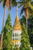 Gold and White Pagoda Royalty Free Stock Photography