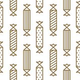 Gold and white party crackers seamless vector pattern. Wrap gift paper elegant texture Stock Image
