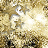 A gold and white sparkle star background Stock Photography