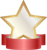 Gold and white star Royalty Free Stock Photo