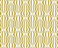 Gold on white tear drop shaped Chinese lantern pattern seamless repeat background. Two colour tear drop shaped Chinese lantern pattern seamless repeat background Stock Images