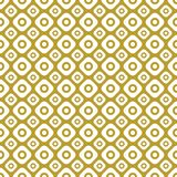 Gold on white two different sized squares with circles seamless repeat pattern background. Two colour two different sized squares with circles seamless repeat Royalty Free Stock Photography
