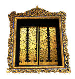 Gold window Royalty Free Stock Photo