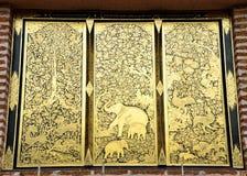 Gold window Stock Photos