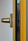 Gold window handle Stock Images