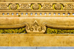 Gold window of laithai temple  Stock Photos