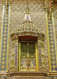 Gold window of temple Royalty Free Stock Photography