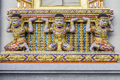 Gold window  of temple Royalty Free Stock Image