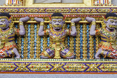 Gold window  of temple Royalty Free Stock Images