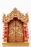 Gold window in temple Thailand Stock Photography
