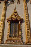 Gold Window in temple Wat Samien nari Beautiful Temple In Bangkok Thailand Royalty Free Stock Images