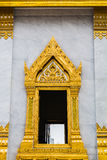 Gold window thai temple Royalty Free Stock Photo