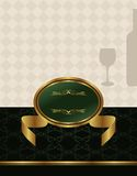 Gold wine label Stock Photo