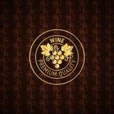 Gold wine label design Royalty Free Stock Image