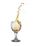Gold wine Stock Photo