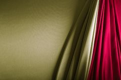 gold and wine red satin stock images