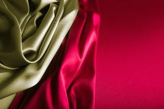 gold and wine red satin royalty free stock photo