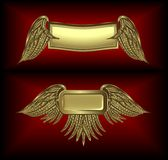 Gold Winged Banners Royalty Free Stock Photo